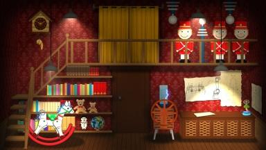 Cena digital animada da segunda parte do segundo ato da adaptação de Coppélia pela Escola de Dança Flávia Portes e APCG