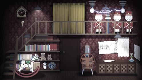 Cena digital animada da primeira parte do segundo ato da adaptação de Coppélia pela Escola de Dança Flávia Portes e APCG